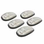 99-01 Dodge Ram 1500 / 2500 / 3500 BE 5 X LED Cab Roof Top Lights (Chrome Housing Amber Lens)