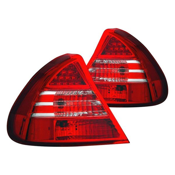 99-02 Mitsubishi Mirage DE / LS Performance LED Tail Lights - Red / Clear