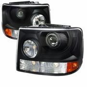 99-02 Chevy Silverado 1PC Projector Replace Headlights - Black