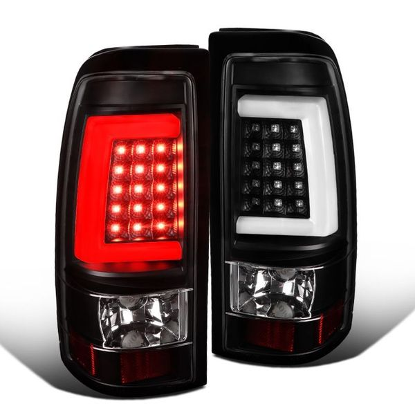 99-02 Chevy Silverado / 99-03 GMC Sierra Fleetside Black LED Tube Tail Lights
