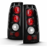 99-02 Chevy Silverado 99-06 GMC Sierra Euro Tail Lights - Black