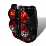 99-02 Chevy Silverado Euro Altezza Tail Lights - Glossy Black