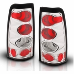 99-02 Chevy Silverado Euro Altezza Tail Lights - Chrome