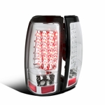 1999-2002 Chevy Silverad / GMC Sierra Performance LED Tail Lights - Chrome
