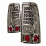99-02 Chevy Silverado / Sierra Euro LED Tail Lights - Chrome