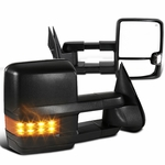 99-02 Chevy Silverado / GMC Sierra G2 [Power / Heated / LED Signal] Towing Side Mirrors - Amber