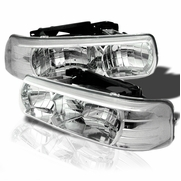 99-02 Chevy Silverado / Suburban / Tahoe Crystal Headlights - Chrome