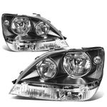 99-03 Lexus Rx300 Factory Style Replacement Headlights - Black