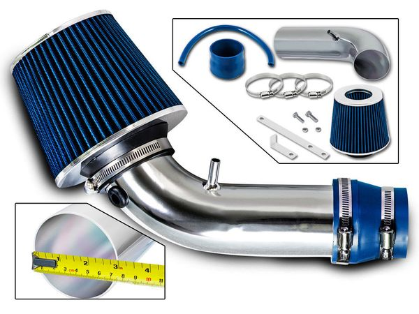 99-03 Suzuki Grand Vitara JLS JLX JS 2.5L V6 Short Ram Air Intake Kit - Blue
