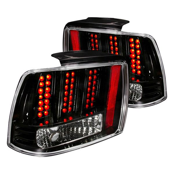 99-04 Ford Mustang Euro Style LED Tail Lights - Black