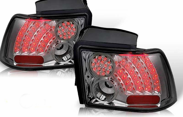 99-04 Ford Mustang Euro Style LED Tail Lights - Smoked
