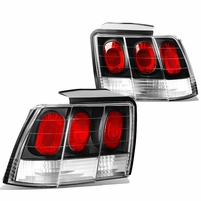 99-04 Ford Mustang Replace Altezza Tail Lights - Black