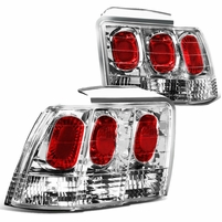99-04 Ford Mustang Replace Altezza Tail Lights - Chrome