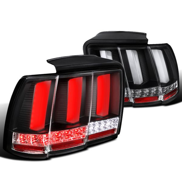 99-04 Ford Mustang Sequential LED Signal Tail Lights - Black