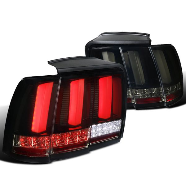 99-04 Ford Mustang Sequential LED Signal Tail Lights - Black Smoked