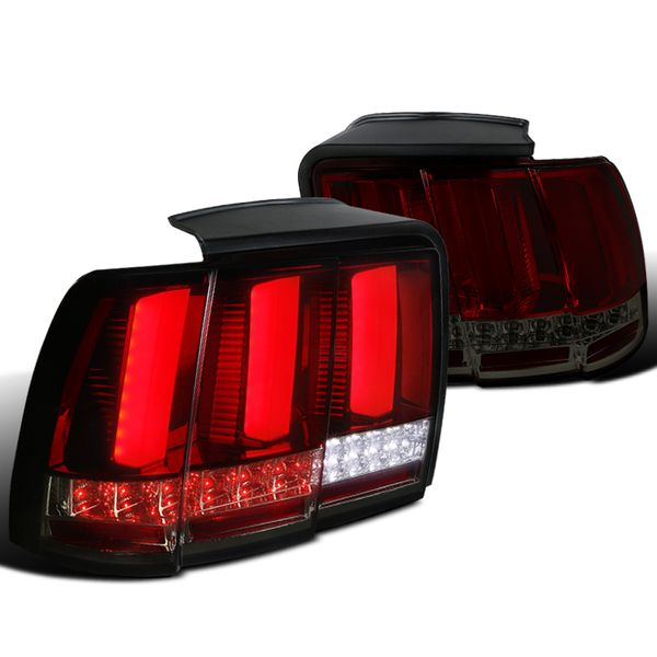99-04 Ford Mustang Sequential LED Signal Tail Lights - Red Smoked