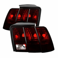 99-04 Ford Mustang Tail Lights|Red Smoked|Pair
