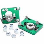 99-04 Ford Mustang [With Power Steering] Adjustable Camber Caster Plates Coilover Alignment Kit - Green