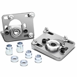 99-04 Ford Mustang [With Power Steering] Adjustable Camber Caster Plates Coilover Alignment Kit - Silver