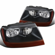 99-04 Jeep Grand Cherokee Factory-Style Headlights - Black