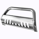 01-04 Nissan Frontier Front Bumper Guard Bull Bar - Chrome