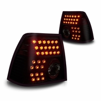 99-04 Volkswagen Jetta Euro Style LED Tail Lights - Black / Smoked