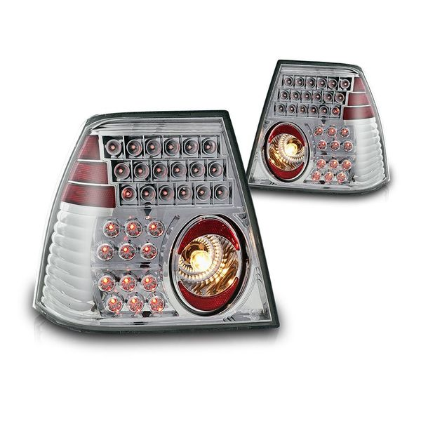 99-05 Volkswagen Jetta Euro Style LED Tail Lights - Chrome
