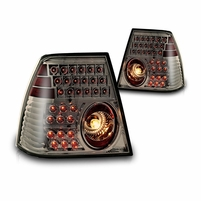 99-05 Volkswagen Jetta Euro Style LED Tail Lights - Chrome / Smoked