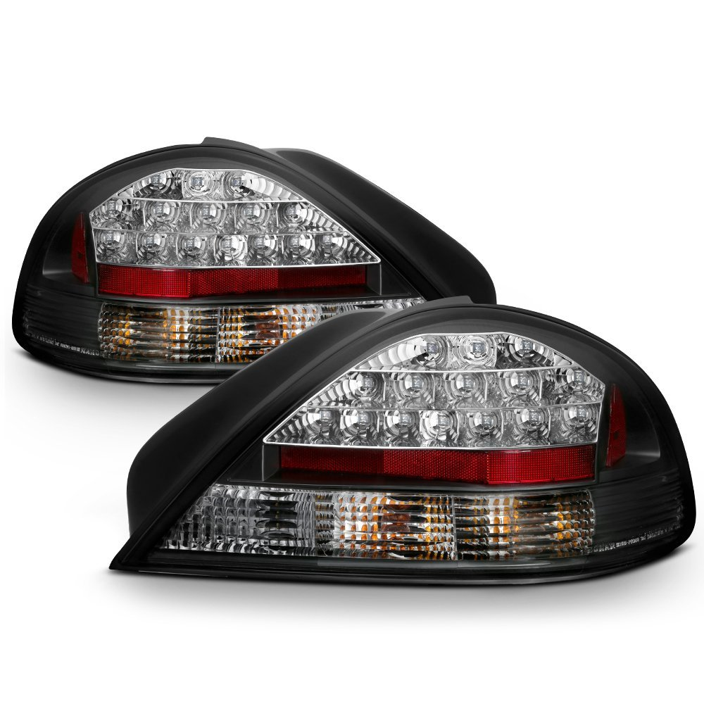 99 05 Pontiac Grand Am Euro Led Tail Lights Black