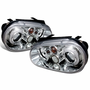 99-05 Volkswagen Golf / GTI MK4 Angel Eye Halo Projector Headlights - Chrome