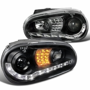 99-05 VW Golf Projector Headlights - R8 Style Black