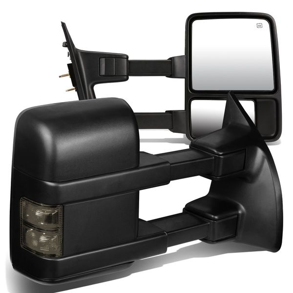 99-07 Ford F250 F350 F450 F550 SuperDuty Power Heated Smoked Turn-Signal Towing Side Mirror