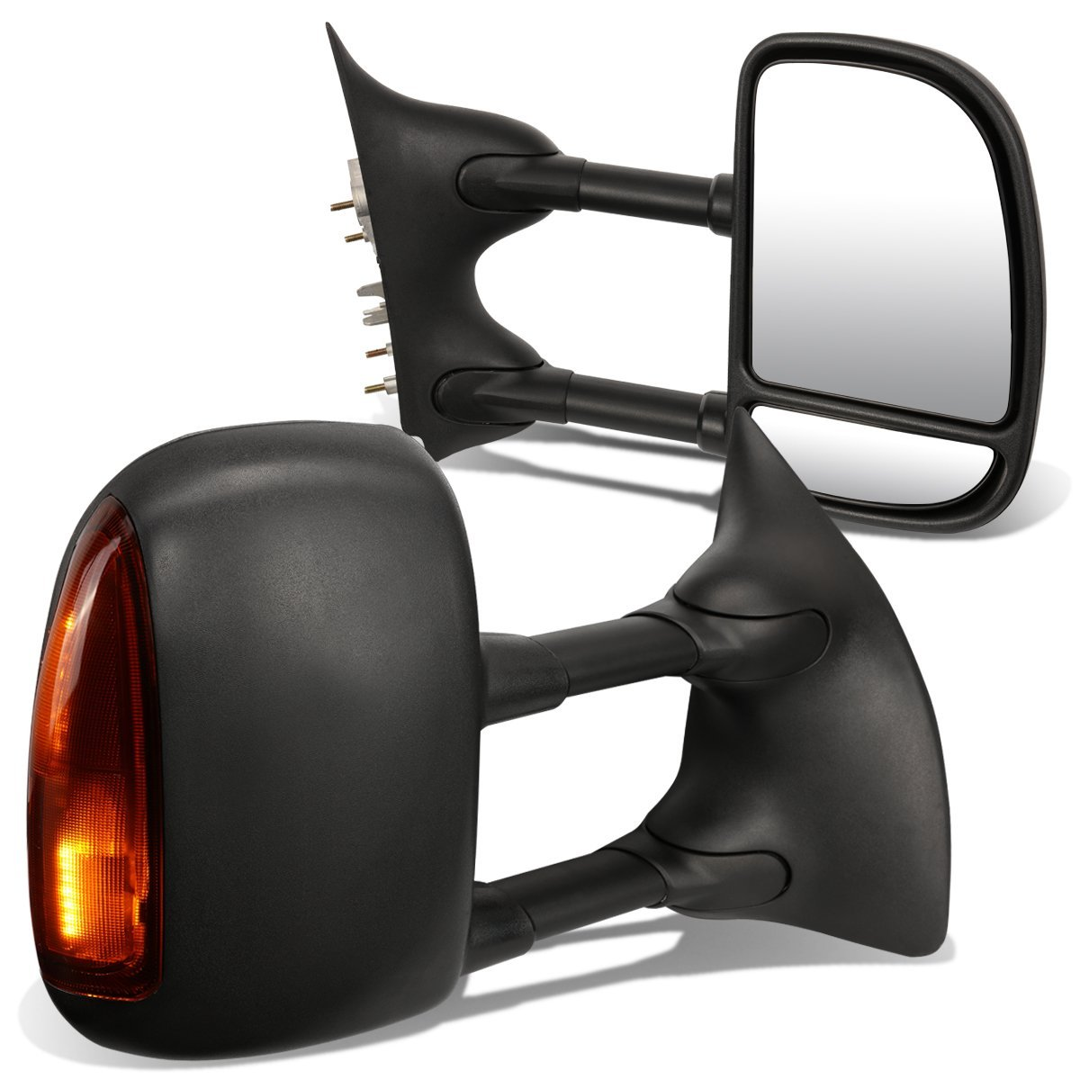 FOR 1999-2007 FORD F250 F350 F450 SUPER DUTY PAIR MANUAL SIDE VIEW TOWING MIRROR