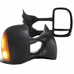 99-07 Ford F250-F550 SuperDuty [Power Heated Signal] Telescoping Tow Mirrors - Pair
