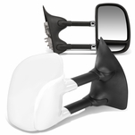 99-07 Ford Super Duty Pair Manual Extenable Chrome Ajustable Side Towing Mirrors