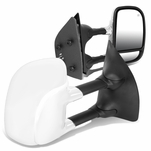 99-07 Ford Super Duty Pair of Adjustable Powered Heated Defroster Towing Mirrors