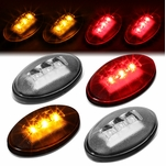 99-10 Ford Super Duty 4Pcs LED Dually Fender Marker Light Replacement Clear
