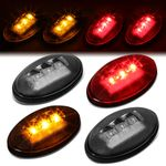 99-10 Ford Super Duty 4Pcs LED Dually Fender Marker Light Replacement Smoked