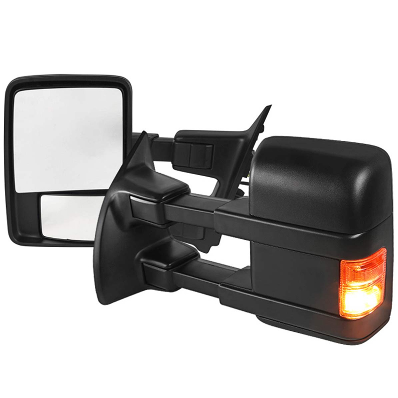 For 99-16 F250 F350 F450 F550 Super Duty Manual Towing Led Signals Mirrors Pair