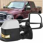 99-16 Ford F250 F350 Chrome Power Heated Extend Tow Side Mirrors+LED Singal