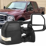 99-16 Ford F250 F350 F450 Power Heat Extened Tow Mirrors+LED Clearance