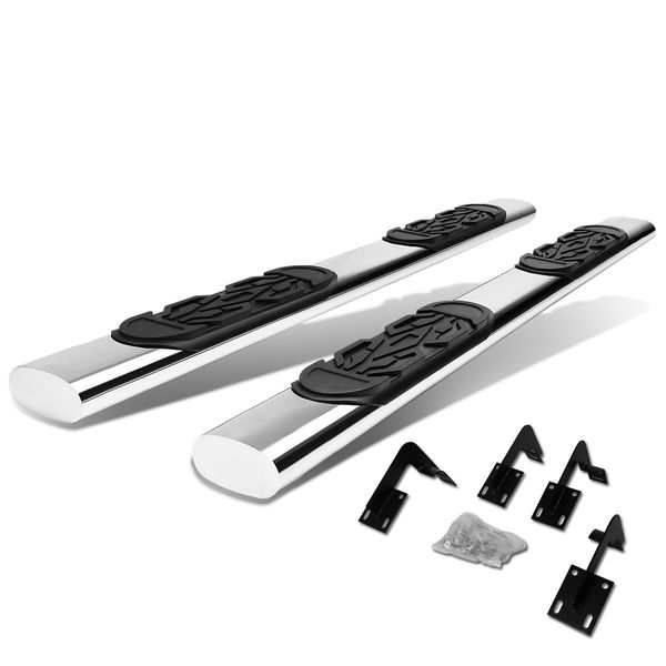 99-16 Ford F250-F450 Superduty Crew Cab Stainless 6-inch Chrome Oval Side Step Nerf Bar