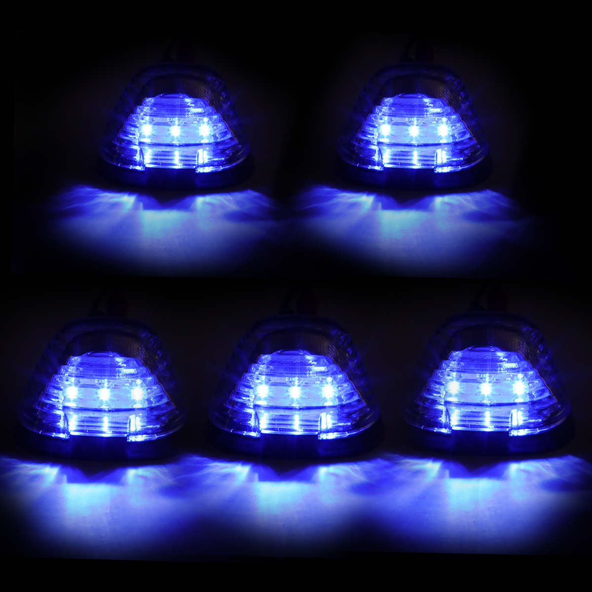 99-16 Ford Superduty 5 X LED Cab Roof Top Lights + Wiring ... on