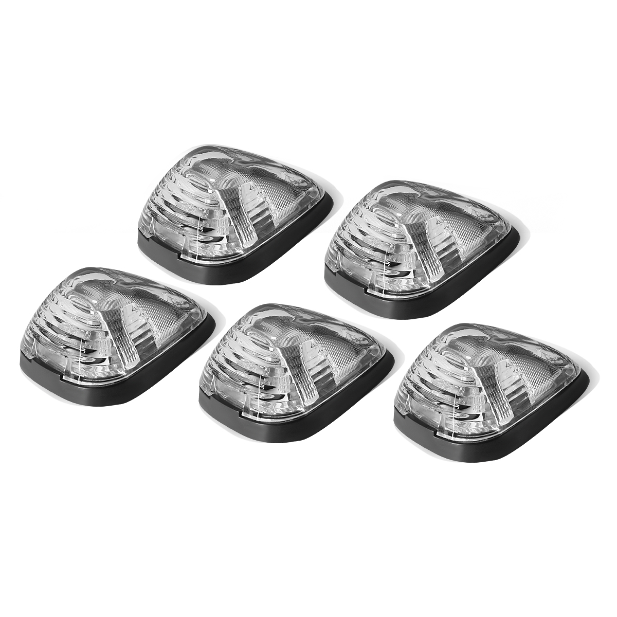 99-16 ford superduty 5 x led cab roof top lights + wiring harness ( click  to enlarge