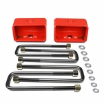 "99-17 Chevy Silverado / GMC Sierra Red 3"" Rear Leaf Spring Mount Leveling Lift Kit"