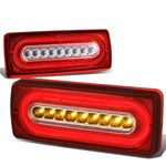 99-17 Mbenz G500 G55 G550 G63 LED Tube Tail Lights - Red Clear