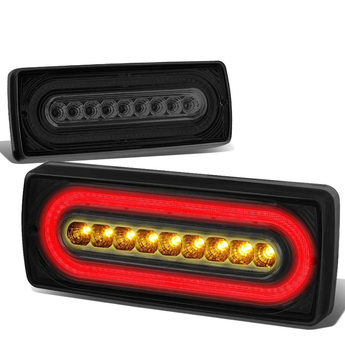 99-17 Mbenz G500 G55 G550 G63 LED Tube Tail Lights - Red Smoked