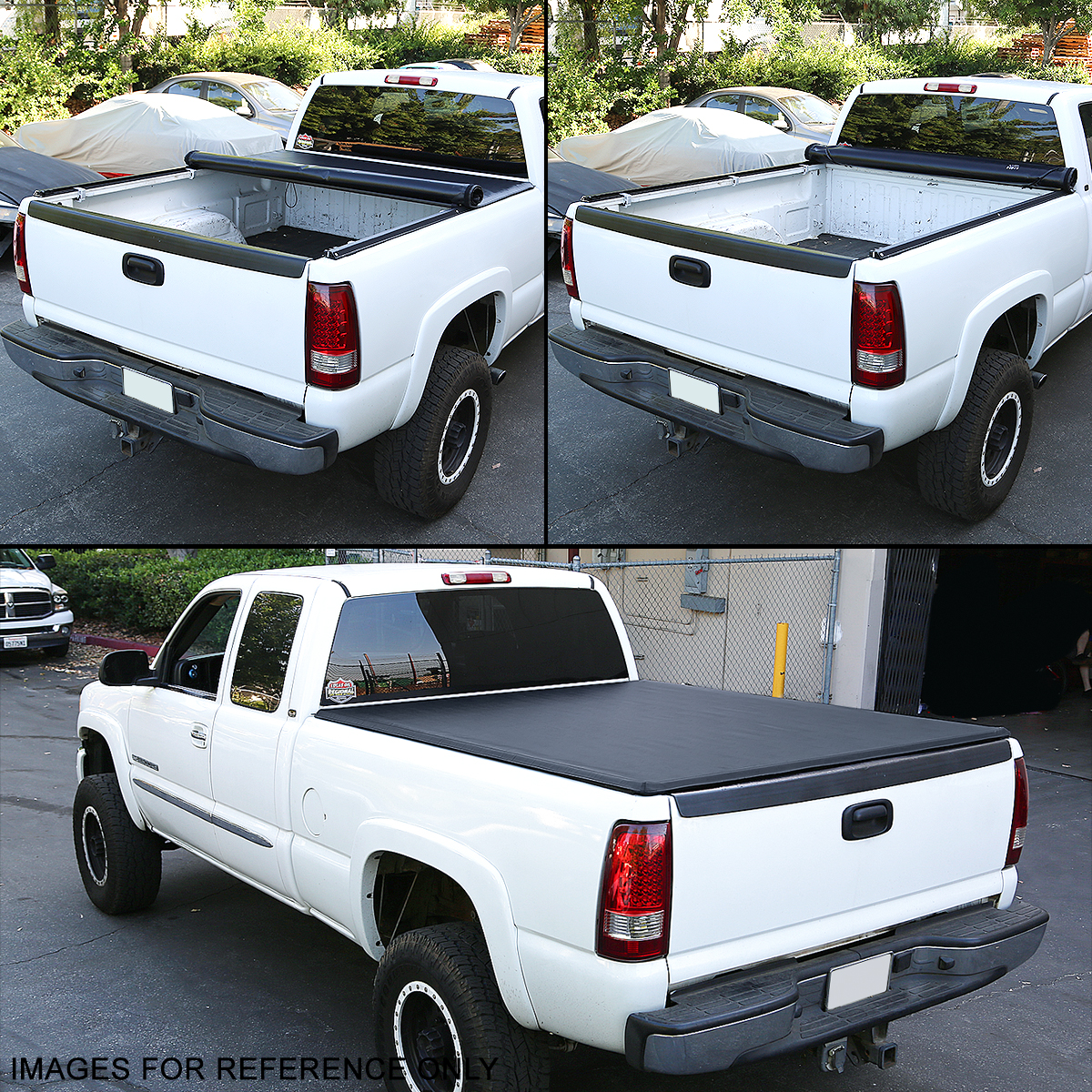 For 99 18 Ford Super Duty 8 Truck Bed Lock Roll Up Soft Vinyl Tonneau Cover Kit Ushirika Coop