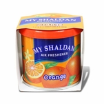 AIR FRESHENER - MY SHALDAN - 80G ROUND CAN - ORANGE SCENT