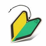 Air Freshener - Young Leaf - Paper Hanging - Jdm New Driver - Black Squash